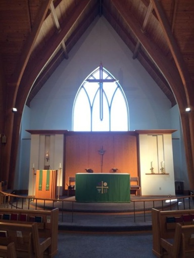 altar and window green